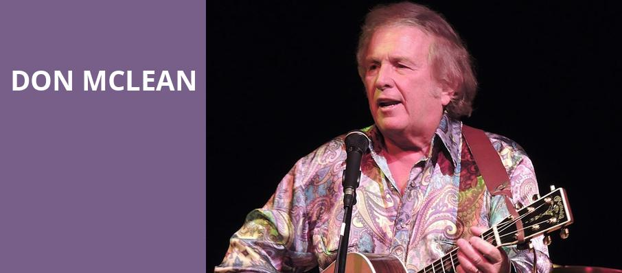 Don McLean, Whitaker Center, Hershey
